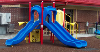 Image of ARC playground equipment after a playground installation project