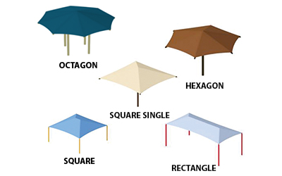 image of available shade structure shapes